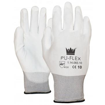 PU-Flex Nylon werkhandschoenen wit