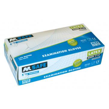 M-Safe 4160 disposable latex handschoen (100 stuks)