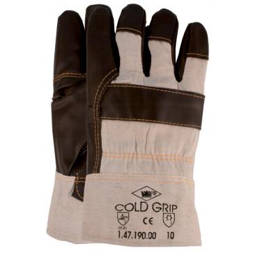 Winterhandschoen met zware boa-voering