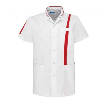 De Berkel zorgjas Lex wit/rood