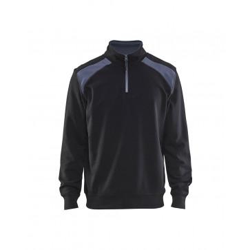 Blåkläder 3353 Sweatshirt Bi-Colour met halve rits