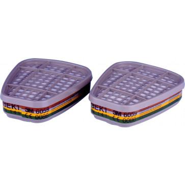 3M filter: bescherming tegen organische dampen, zure gassen en ammoniak
