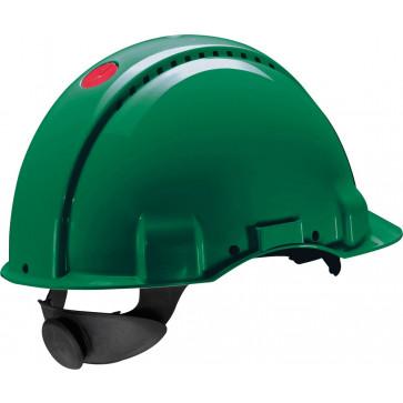 3M Peltor G3000N: extra ventilerende veiligheidshelm met 180° omkeerbaar binnenwerk (groen)