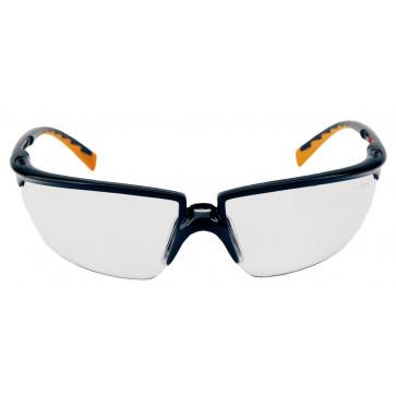 3M Solus veiligheidsbril met optimale pasvorm, gezichtsveld en bescherming (zwart/oranje montuur en AS coating)