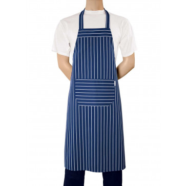 Chaud Devant BBQ Blauw Stripe Schort