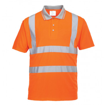 Portwest Hi vis korte mouw polo shirt GO/RT