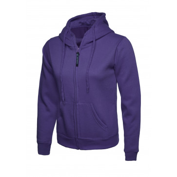 Uneek UC505 Sweater met rits Hooded Dames