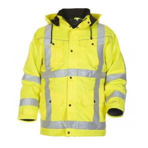 Hydrowear Lokeren hoge zichtbaarheidsjas geel