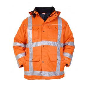 Hydrowear Lokeren hoge zichtbaarheidsjas oranje