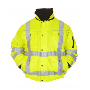 Hydrowear Aberdeen hoge zichtbaarheids werkjas geel