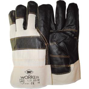 Meubellederen handschoen met palmversterking in donkere kleuren