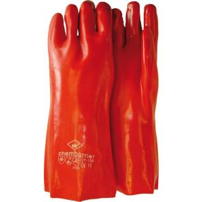 PVC werkhandschoen rood premium 35cm
