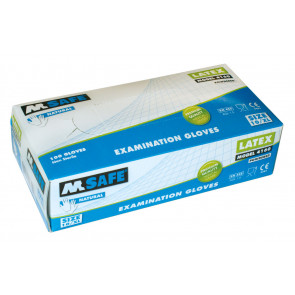 M-Safe 4160 disposable latex handschoen (100 stuks)