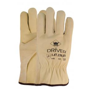 Chauffeurswerkhandschoen met flanel voering