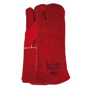 Laswerkhandschoen gestikt met Kevlar garen 3-vinger model