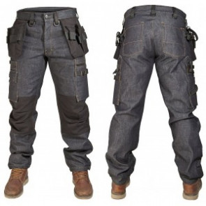 Dunderdon P12 denim werkbroek (heren)
