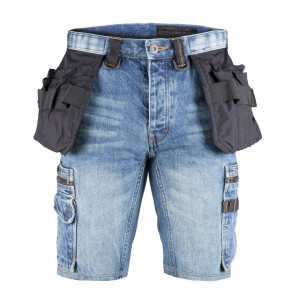 Dunderdon P55S korte denim werkbroek (heren)