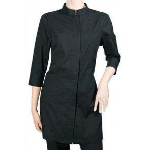 Chaud Devant Dames Zwart Stretch 3/4 Sleeve Serveerjas