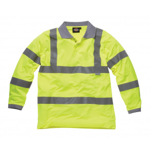 Dickies High Visibility Long Sleeve Polo