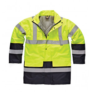 Dickies High Visibility Parka Yellow/Navy