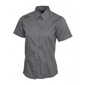 Uneek UC704 Overhemd Pinpoint Oxford Dames korte mouwen