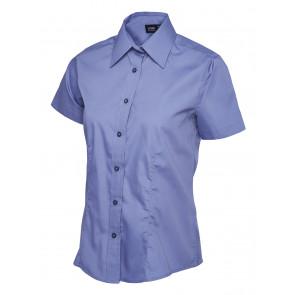 Uneek UC712 Overhemd Poplin Dames korte mouwen