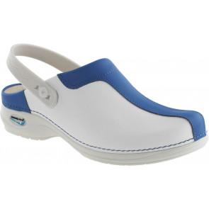 Wash'Go NursingCare medische klomp wit/lichtblauw