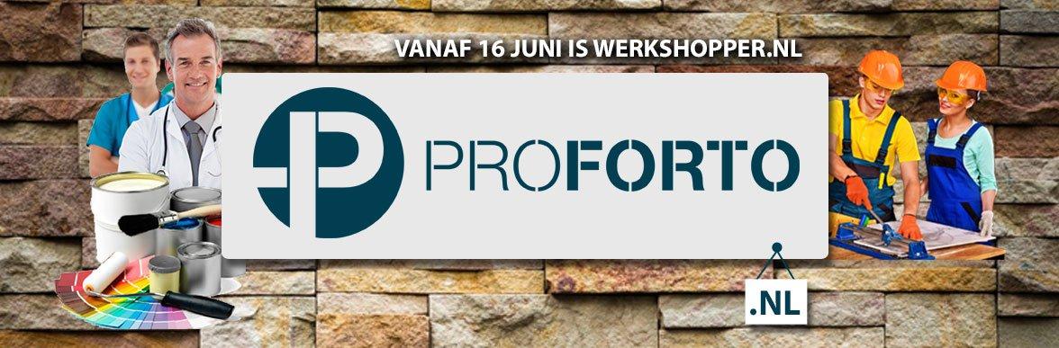 Werkshopper.nl gaat vanaf 16 juni verder onder de naam Proforto
